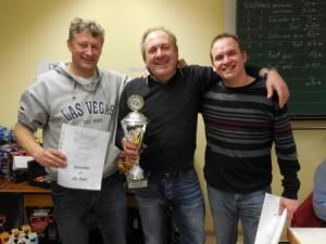 Die Gewinner von links nach rechts: Michael Köberle (3.Platz) – Heribert Schmelcher (1.Platz) – Harald Schmelcher (2.Platz)