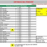 Fahrplan Ortsbus Geltendorf (Probebetrieb)