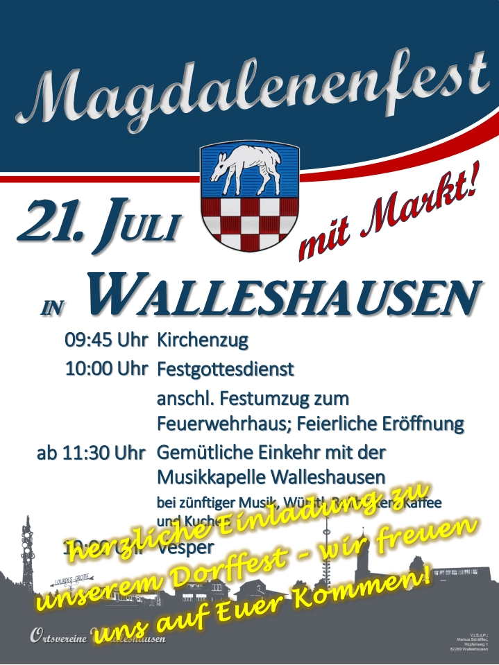 Plakat Magdalenenfest 2019